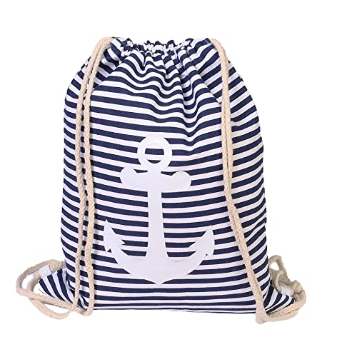 059696c10e9d2 Turnbeutel Gym Beutel Sack Jute Beutel mit trendigen Print z.B Anker  (Blau)  Amazon.de  Schuhe   Handtaschen