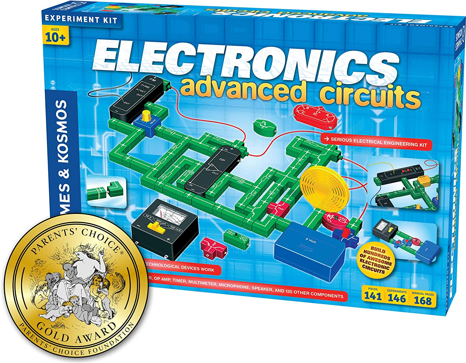 Thames and Kosmos 615918 Electronics Advanced Circuits Experiment Kit