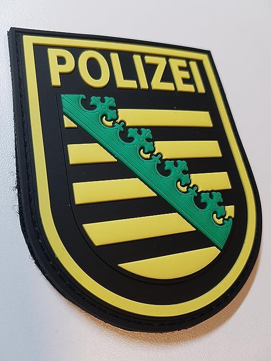 Atg Ärmelabzeichen Polizei Sachsen 3 D Rubber Patch Farbig Auto