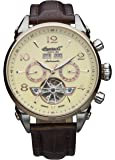 """Ingersoll Men's IN4514RCR """"San Bernardino"""" Automatic Stainless Steel Watch with Brown Leather Band"""