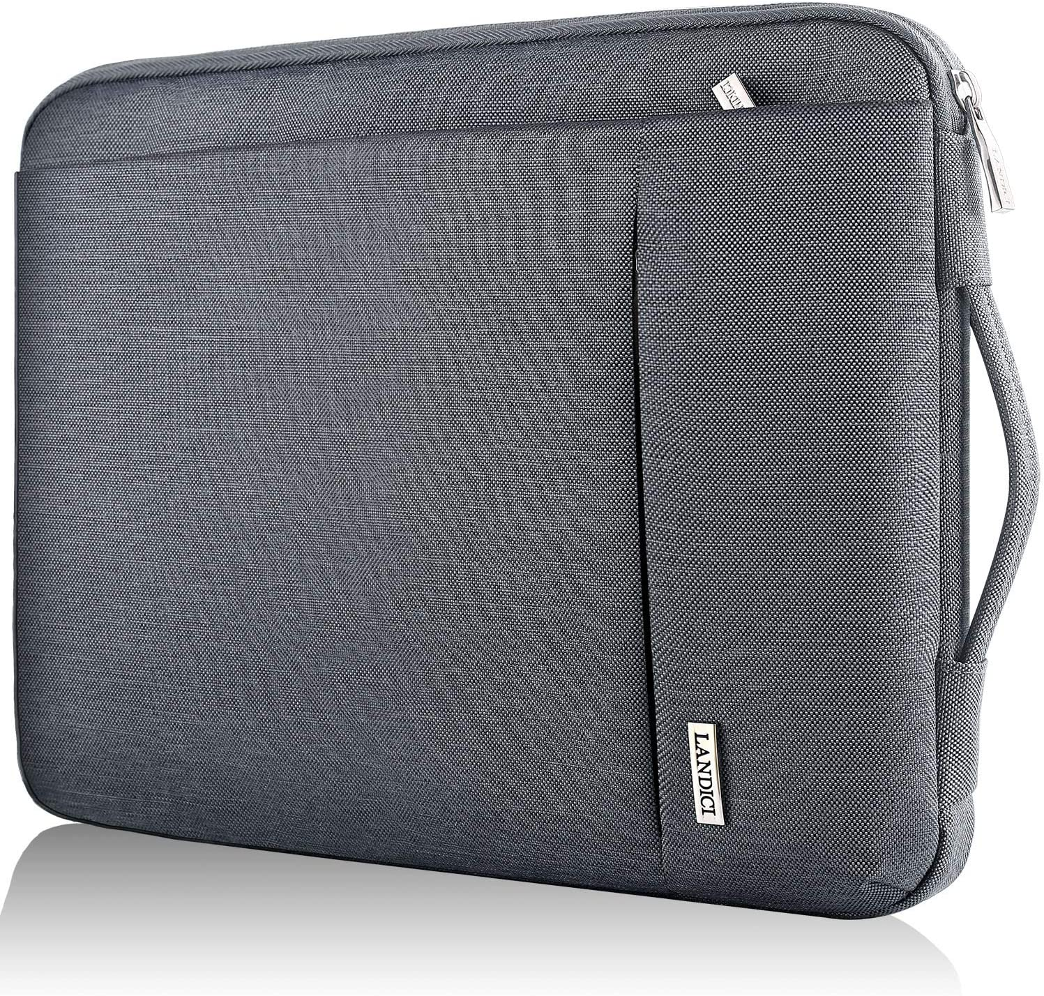 "Landici 360 Protective Laptop Sleeve 11.6 Inch,Waterproof Notebook Tablet Case Bag Compatible for IPad Pro 12.9 2020,12.3"",Surface Pro 7/6/5,MacBook Air 11,New MacBook 12"",HP Acer Chromebook-Gray"