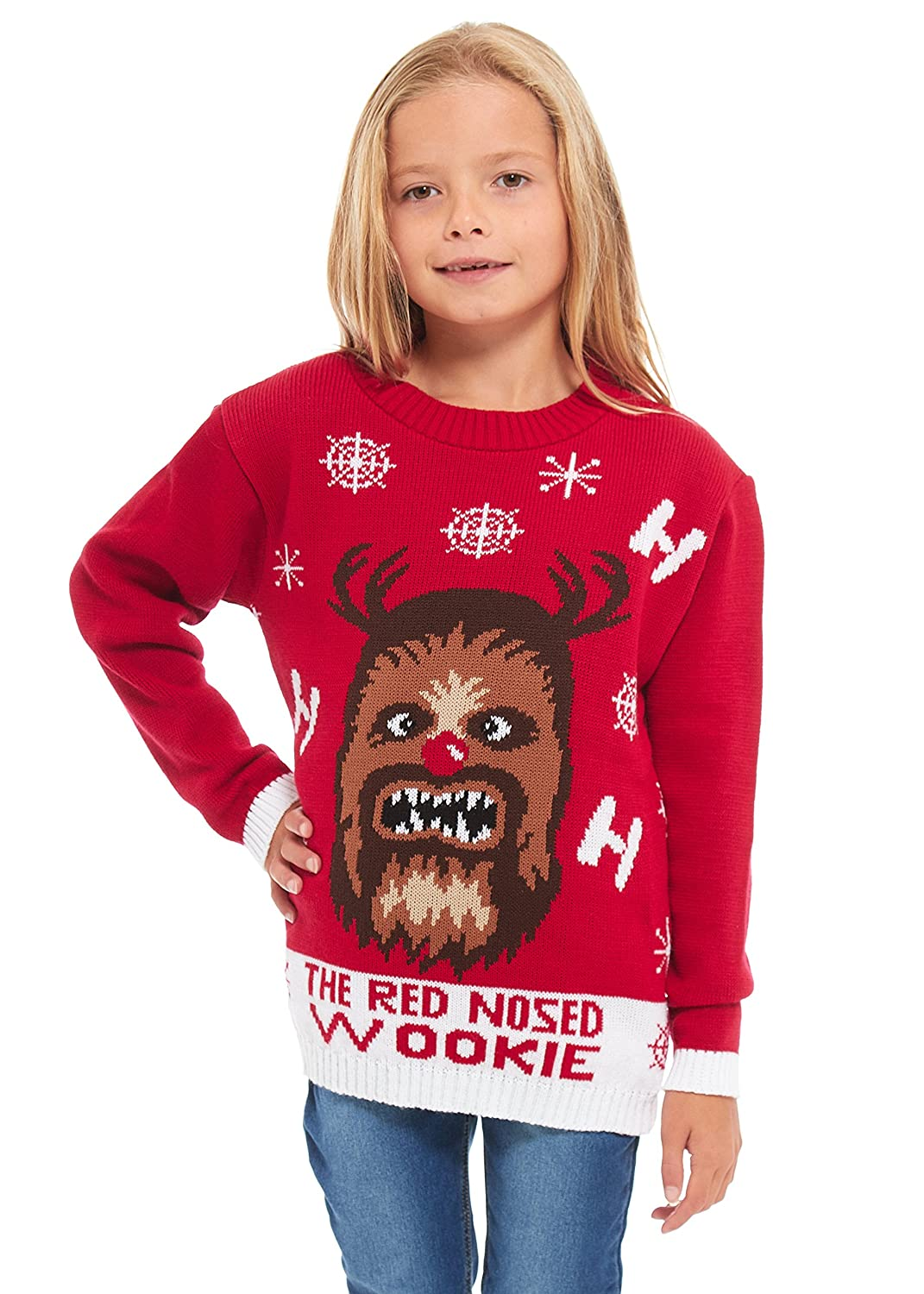 New Camp Ltd Girls Kids Boys Children Unisex Christmas Xmas Knitted Novelty Retro Elf Football Jumper Sweater Christmas Xmas 2018 Exclusively to for Ages 2-14 Years