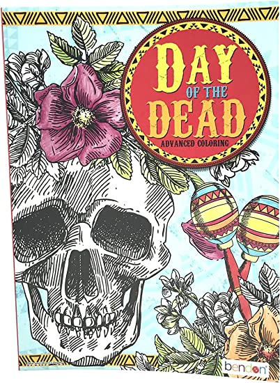 Amazon.com: Bendon Day Of The Dead Advanced Coloring: Toys & Games