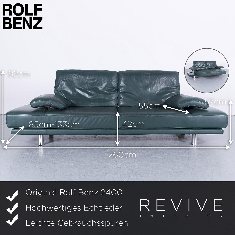 Beeindruckend Benz Couch Beste Wahl Conceptreview: Rolf 2400 Leder Sofa Grün Zweisitzer