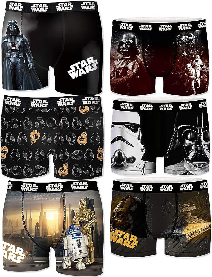 Star Wars Pack 6 Calzoncillos Freegun Sorpresa para niño: Amazon ...