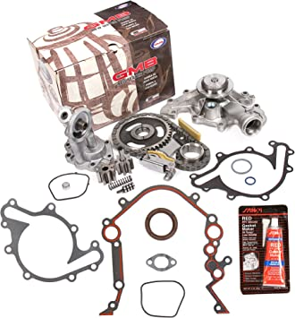 Evergreen TKTCS20500OP Fits 90-07 Ford Lincoln Mercury 3.8 3.9 4.2 OHV 12 Valves Timing Chain Kit Oil Pump Timing Cover Gasket