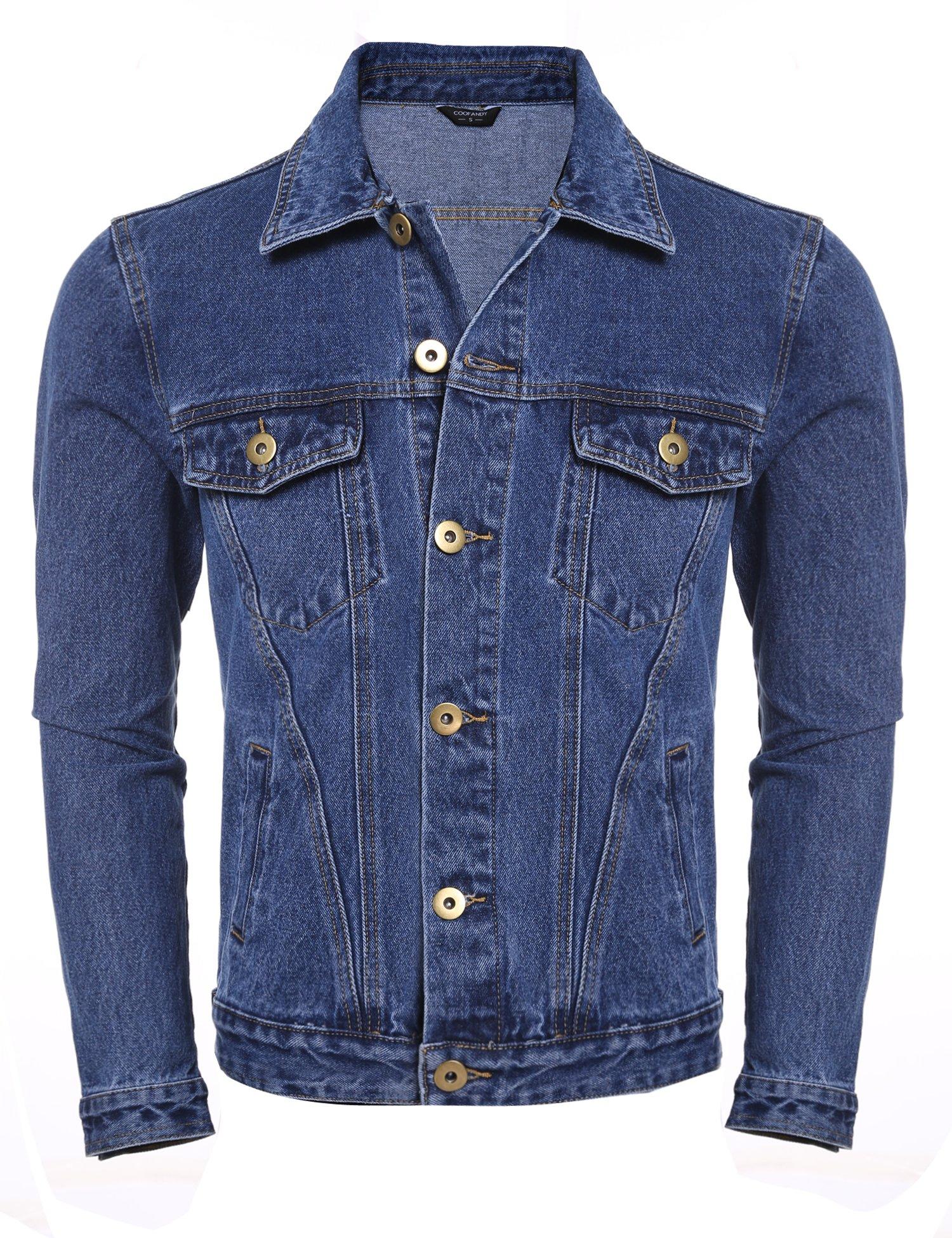 COOFANDY Men's Rugged Wear Unlined Jean Denim Jacket by COOFANDY