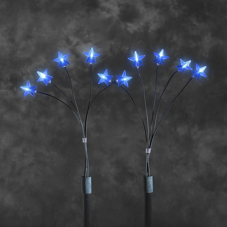 Konstsmide 4053-400 LED Sternenstäbe 5er-Set / 25 blaue Dioden / 24V ...