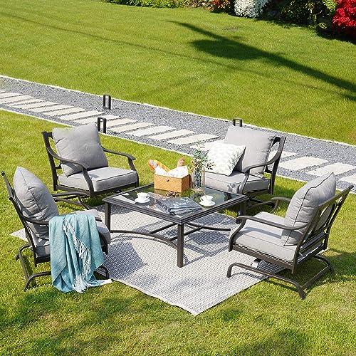 Grand patio 5 Piece Outdoor Furniture Conversation Set