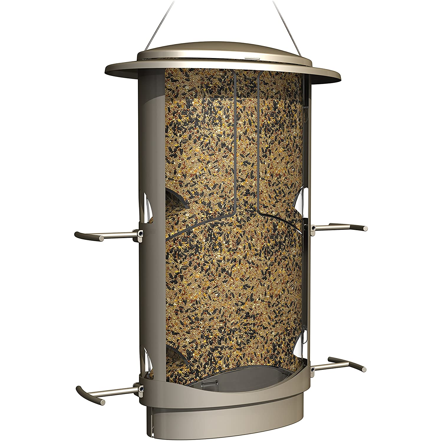 plus patio feeding amazon buster ring with ca and feeder ports bird wild brome proof dp capacity squirrel cardinal perch seed