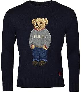 fa30da549ed2a RALPH LAUREN Mens Iconic Bear Isle Pullover Sweater Beige XS at ...