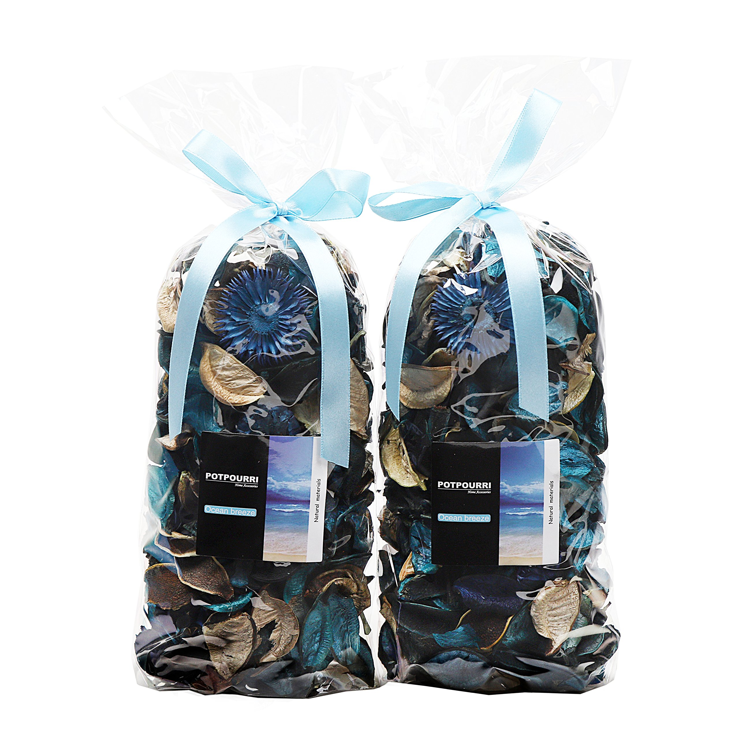 Qingbei Rina Gifts.Turquoise Fresh Potpourri Bag,Petal,Perfume Satchel,Decorate Bowl and Vase.Two Bags.8.4OZ. (Turquoise) by Qingbei Rina