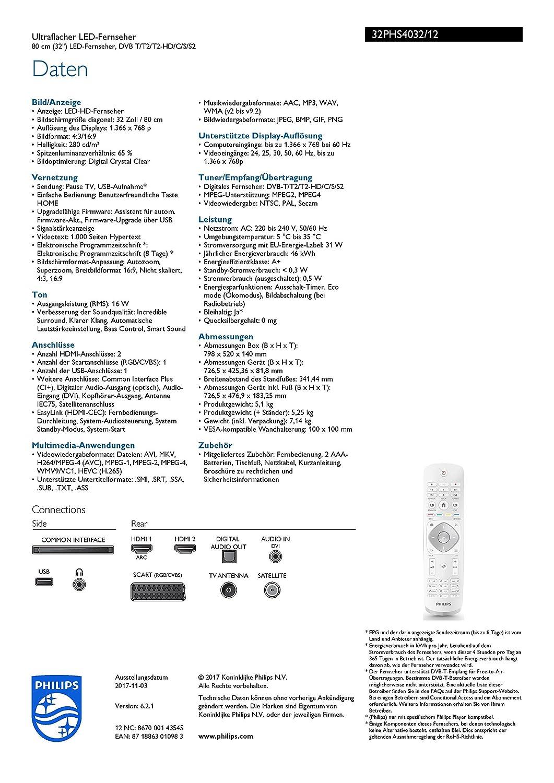 Philips 32PHS4032/12 Fernseher 80 cm (32 Zoll) LED TV