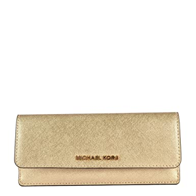 451f949ade MICHAEL by Michael Kors Money Pieces Pale Gold Flat Wallet one size Pale  Gold: Amazon.co.uk: Clothing