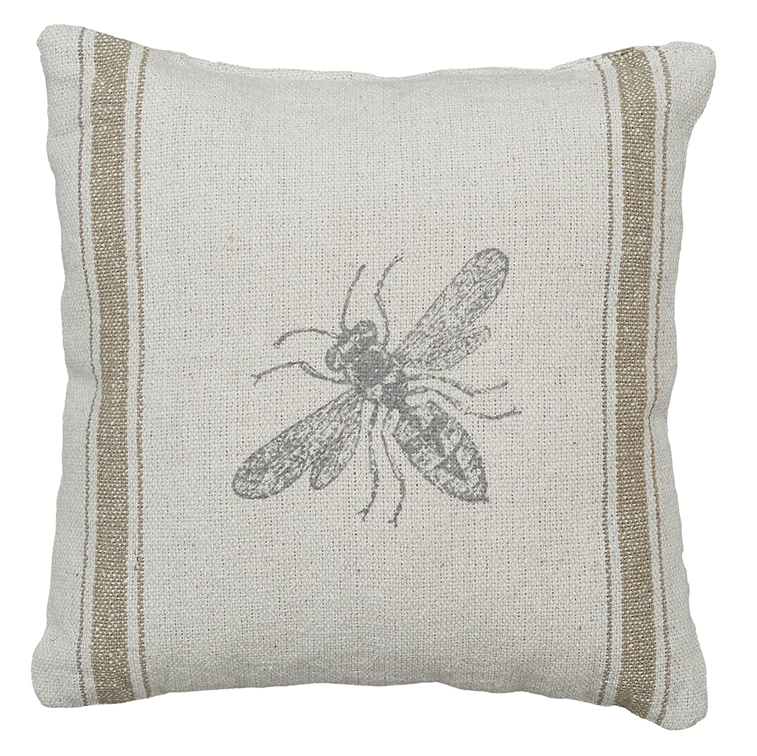 Primitives by Kathy 3-Stripe Bumblebee Accent Pillow, 10 x 10 10 x 10 21665