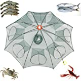 Nswdhy New Fishing Bait Foldable Net Trap Cast Dip Cage Crab Fish Minnow Crawdad Shrimp