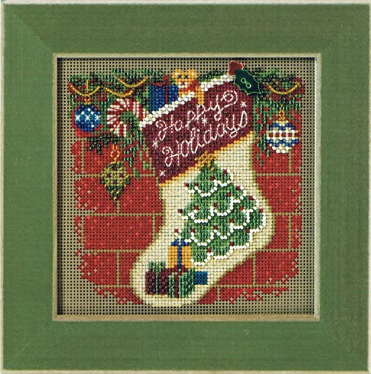 Holiday Stocking Bead Cross Stitch Kit Mill Hill 2011 Buttons /& Beads