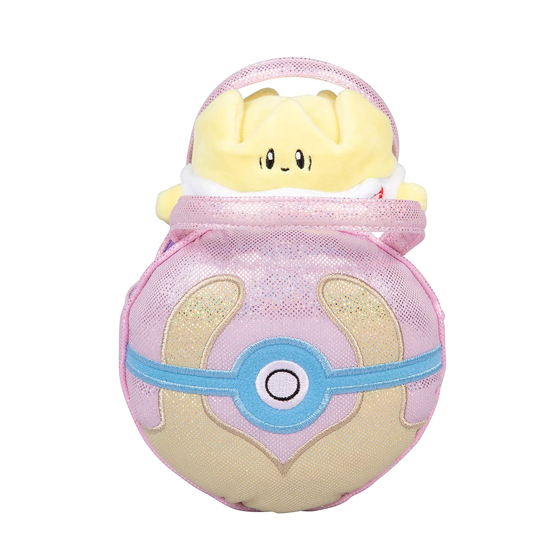 Pok/émon Togopi Pok/éball Plush Carrier Purse with Cute Mini Togopi Plush Doll Wicked Cool Toys