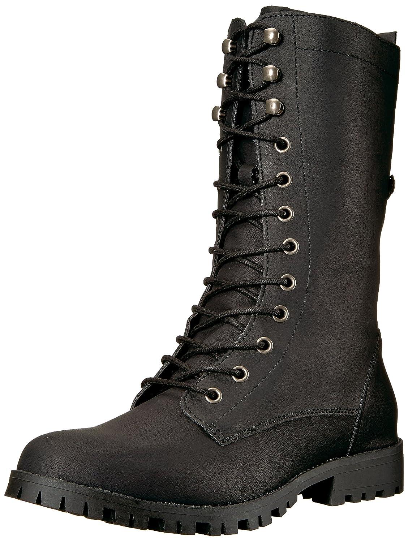 Sugar Women's Tegan Lace-up Mid-Calf Combat Boot B07657BHMY 9 B(M) US|Black