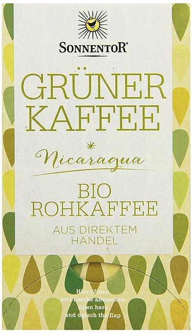 Sonnentor Grüner Kaffee bio, Doppelkammerbeutel, 3er Pack (3 x 54 g)