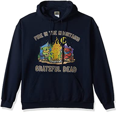 69e9071546a Liquid Blue Men s Plus Size Grateful Dead Fire in The Mountain Dancing  Bears Pullover Hooded Sweatshirt