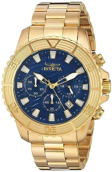 Invicta 24001 Pro Diver Reloj para Hombre acero inoxidable Cuarzo Esfera azul: Amazon.es: Relojes
