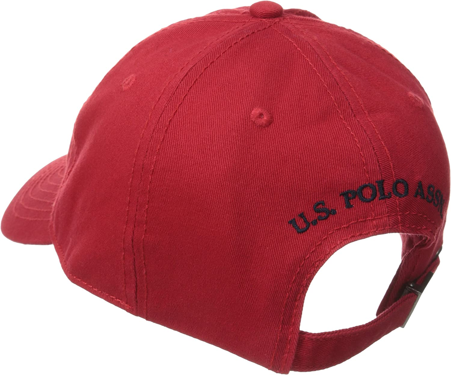 U.S. Polo Assn. Mens Small Solid Horse Adjustable Cap, Red, One ...