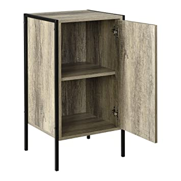 Encasa Design Cabinet Cupboard Black And Wood Effect 78x42