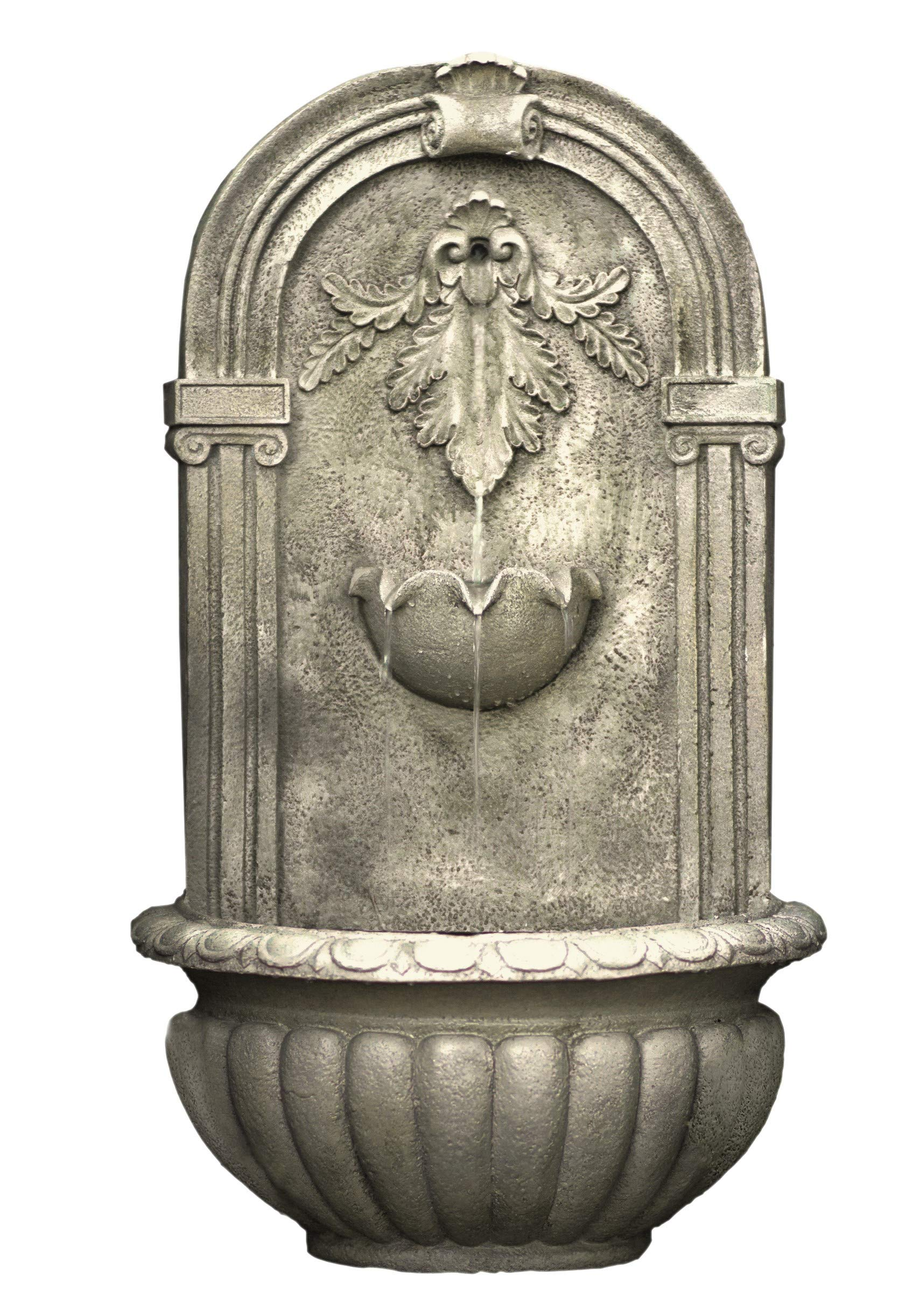 The Theodora Outdoor Wall Fountain - Parchment - Water Feature for Garden, Patio and Landscape Enhancement HF-W009-P by Harmony Fountains