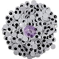 AsianHobbyCrafts Googly Moving Eyes Black & White: 200pcs 8mm.