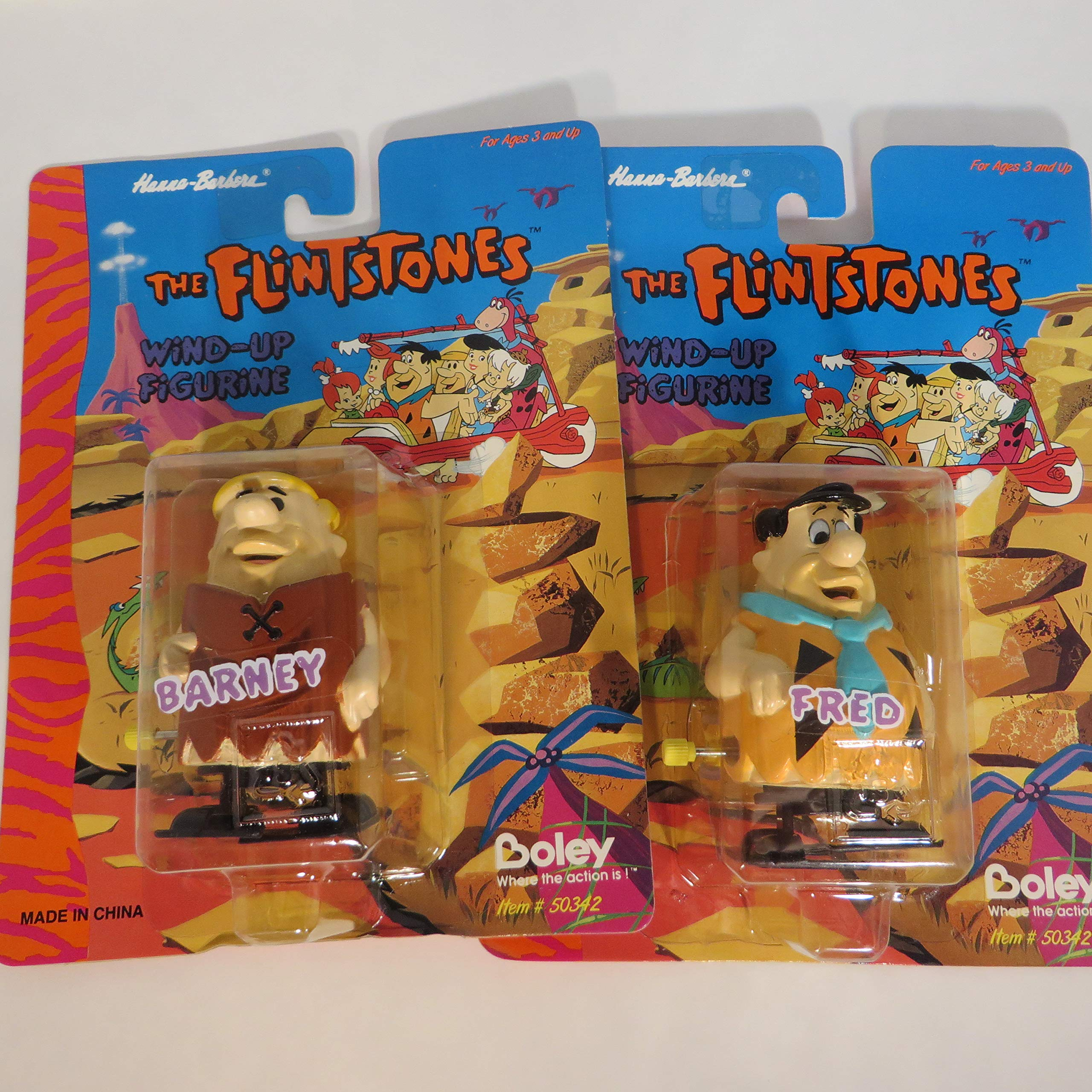The Flintstones Fred and Barney Wind Up Toy Set
