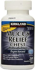 Kirkland Signature Mucus Relief Chest Guaifenesin 400 mg Expectorant