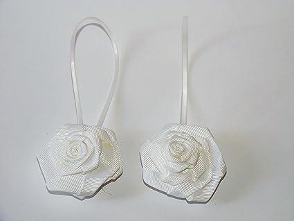 Set di due calamite per tenda con fiore bianco: amazon.it: fai da te