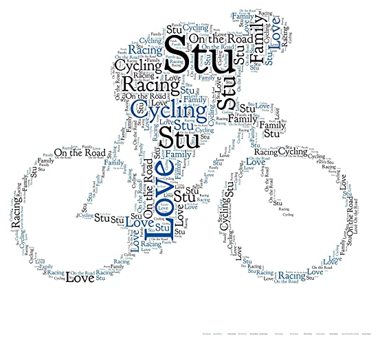 Personalised Word Art Print Cycling Bike Cyclist Cycle Birthday gift Frame card