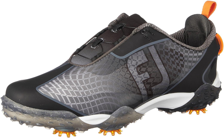 [フットジョイ] ゴルフシューズ フリースタイル メンズ B07B63G99Q 27.5 cm ブラック/オレンジ