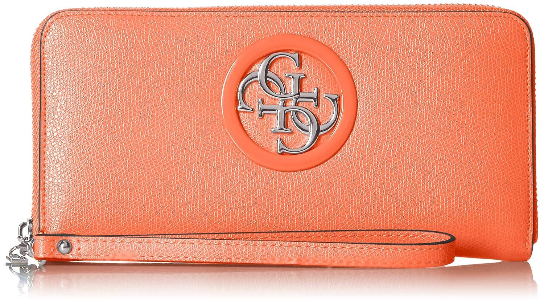 Guess Damen Open Road Slg Large Zip Around Geldbörse, Mehrfarbig (Orange), 21x10x2 centimeters
