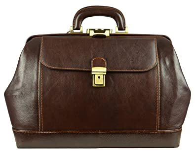 Amazon.com: Leather Doctor Bag, Leather Medical Bag, Satchel Bag ...