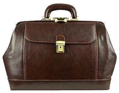 Amazon.com: Leather Doctor Bag, Leather Medical Bag, Satchel Bag ...