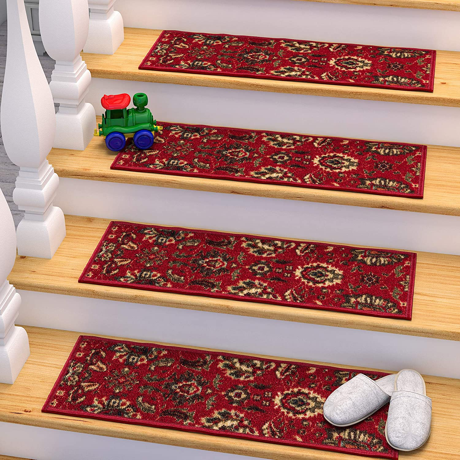 13 Pack Ottomanson OTH2130-13 Stair Tread Red