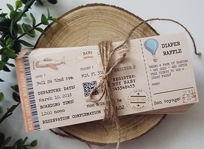 Amazon baby shower ticket invitation boarding pass ticket baby shower ticket invitation boarding pass ticket plane ticketprintable invitation digital download filmwisefo