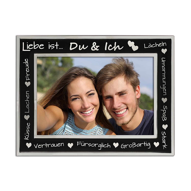 Amazon.de: Liebe Bilderrahmen, Paare, Romantik, Versilbert, mattes ...