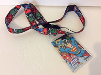 Six Flags Magic Mountain DC Justice League America Lanyard + ID Card Holder