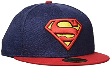 3e3cb42a983ac New Era Hommes 59FIFTY Fitted Superman Marvel Casquette Bleu 7 12 - 59,6cm (