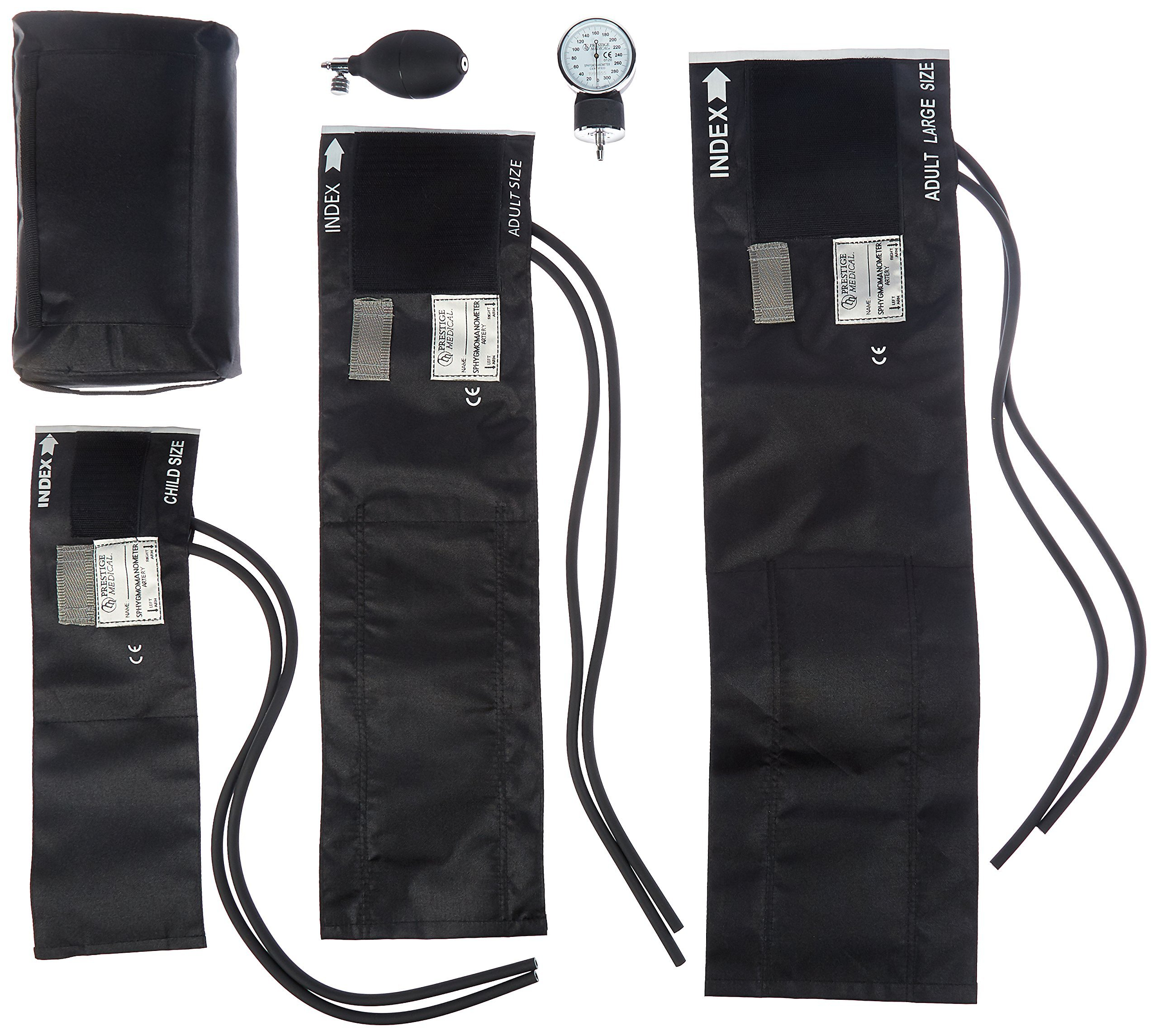 Prestige Medical 3-in-1 Aneroid Sphygmomanometer Set with Carry Case, Black by Prestige Medical