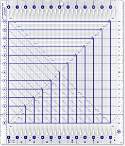 "QuiltCut Strip Savvy Square Up Slotted Quilting Ruler, QC2-SU (14½"" x 17"")"