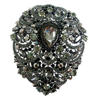 "213c8ad496d TTjewelry Bride 4.92"" Flower Drop Pendant Bridesmaid Brooch Austria  Crystal ..."