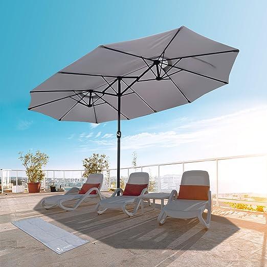 mejor elección aliexpress Tener cuidado de VOUNOT Sombrilla Parasol Rectangular, Sombrillas Jardin Grandes ...