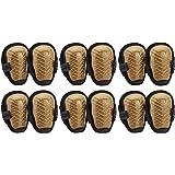 AmazonCommercial Gripper Gel Knee Pads, 10.5 in, Brown, 6 pair