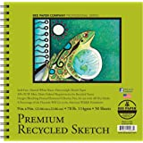Bee Paper Recycled Sketch Pad, 9-Inch by 9-Inch (837S50-909)