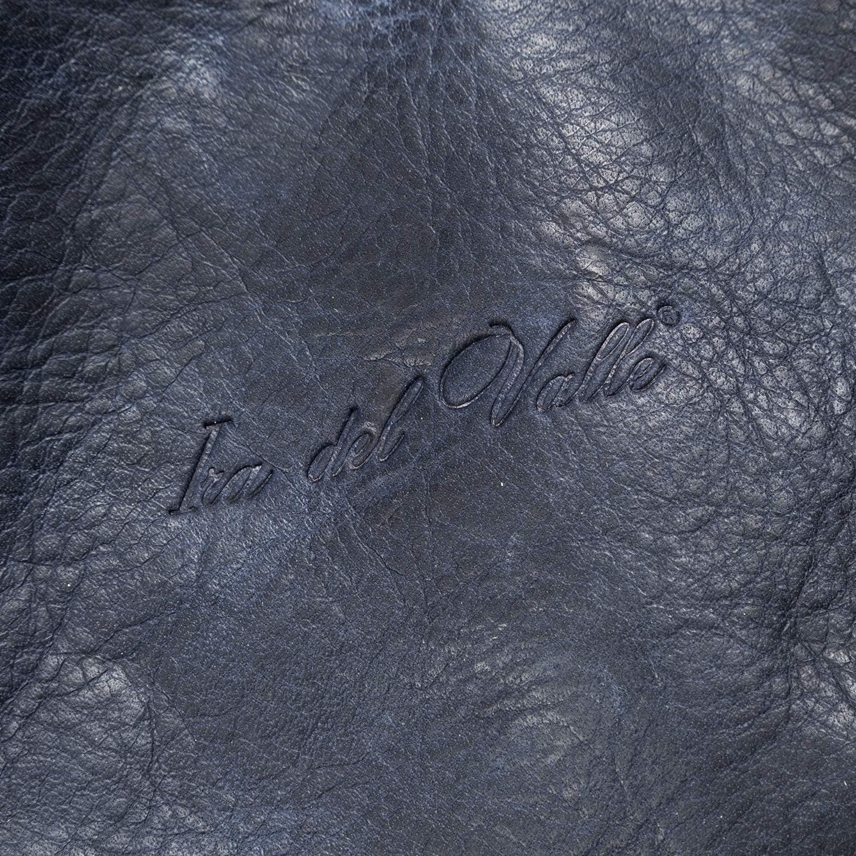 Ira del Valle, Borsa Donna, In Vera Pelle Intrecciata Vintage, Made in Italy, Modello Caraibica, Borsa Grande a Mano e Spalla con Tracolla Blu
